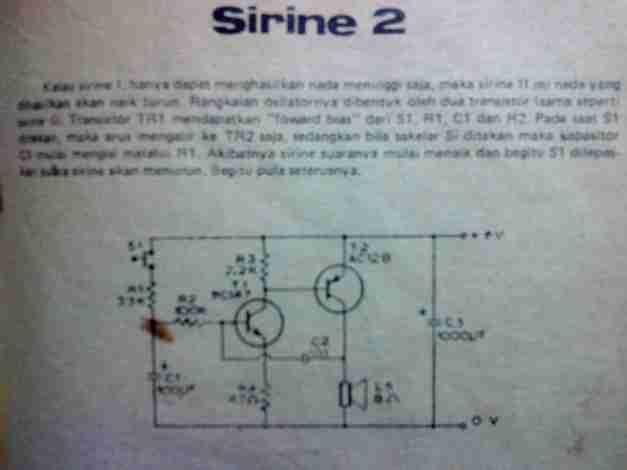 Rangkain sirine 2 transistor