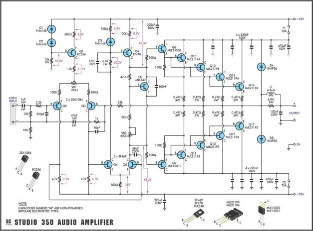 Amplificador Studio 350 Audio Amplifier