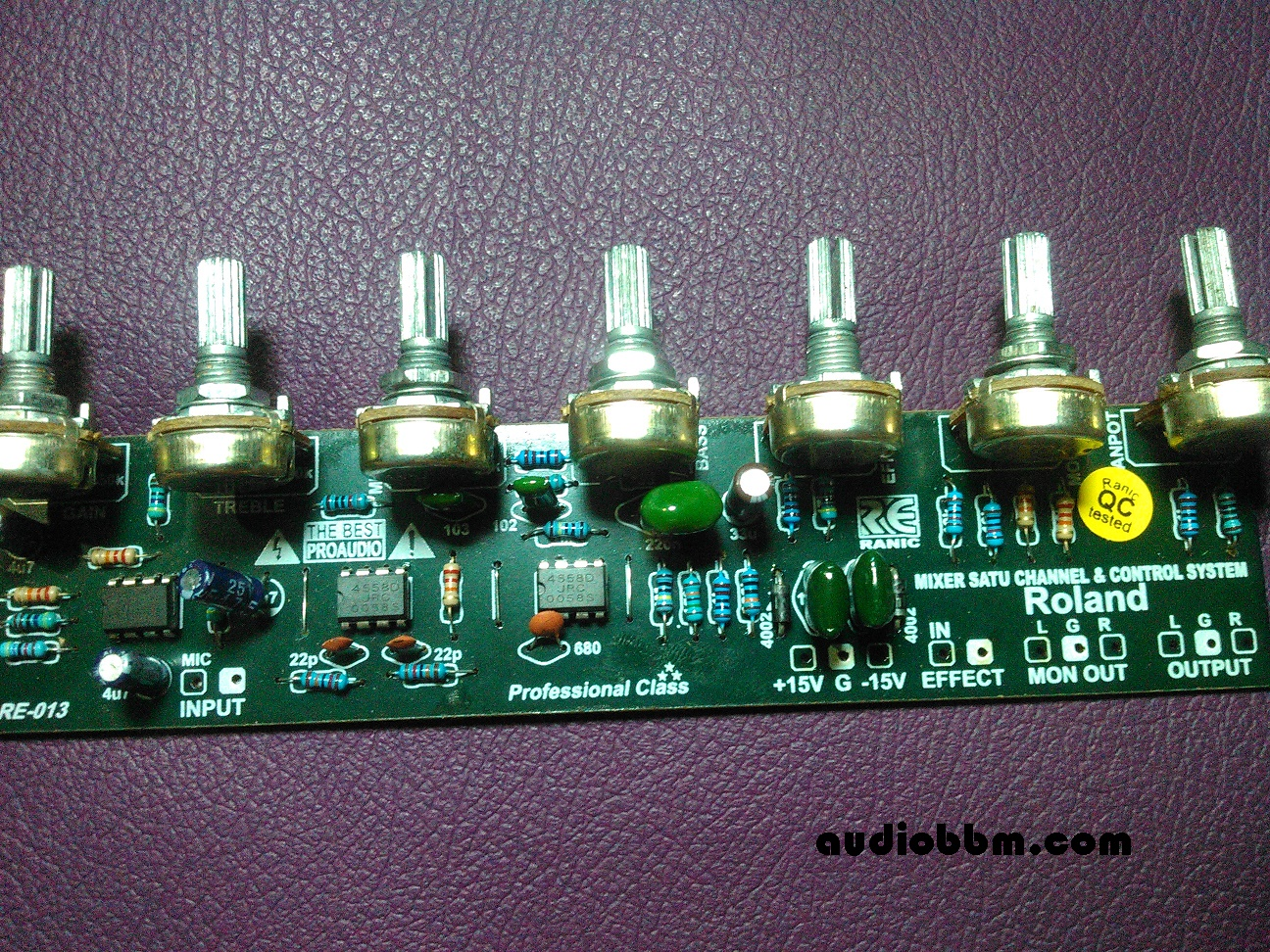 Pre Amp Tone Control Sub Filter Crossover Lets Do It Equalizer 5 Chanel Using Ic Tl074 Tl084 Ranic013