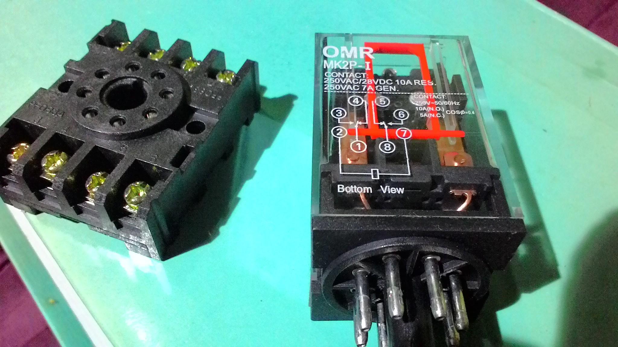 relay mk2p i untuk switch pompa air