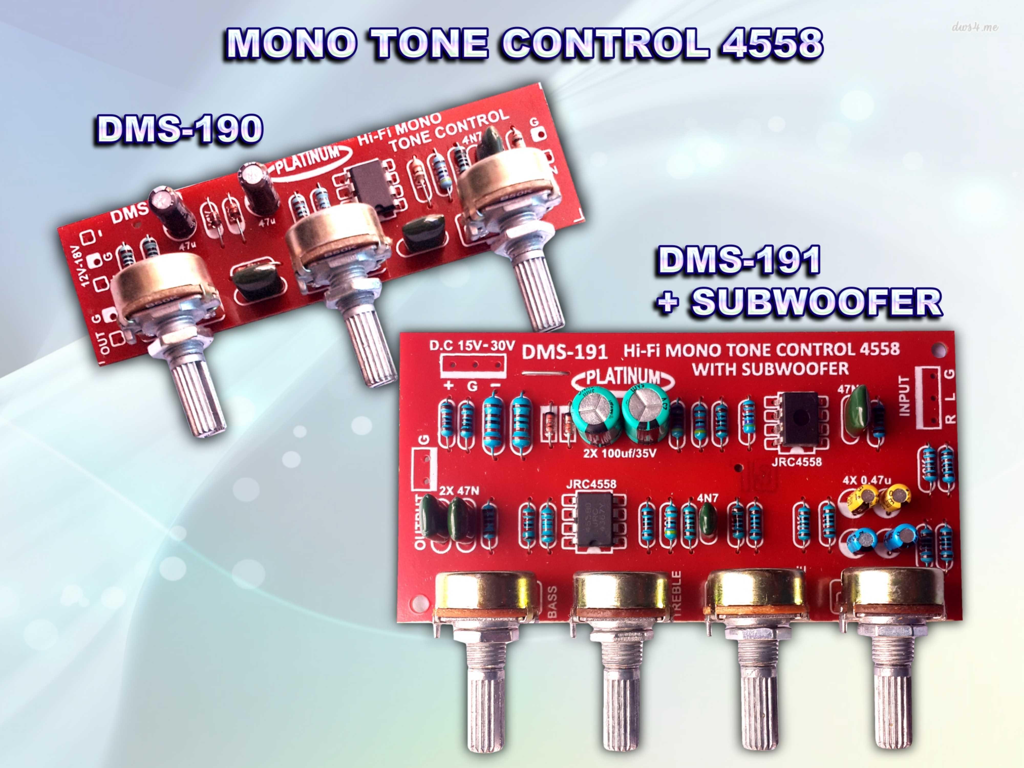 Aksesoris Mixer Tone Control Dll Lets Do It Circuit Passive Kit Hi Fi Mono Dms 190 191