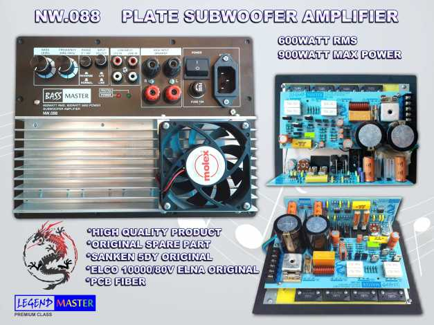z SUBWOOFER AMP PLATE NW.088